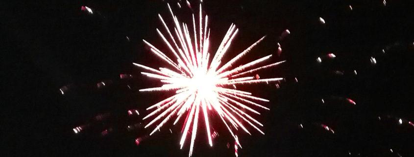 Explosion einer Feuerwerksrakete