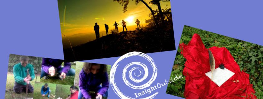 Drei Angebotsbilder und Insight Outside-Logo