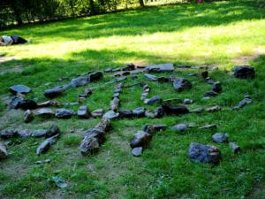 ein halb fertiges Labyrinth